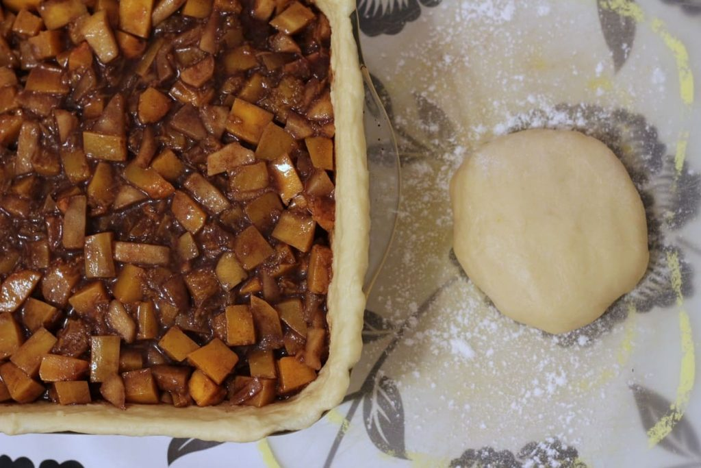 Set aside pastry for the lid of the pie.