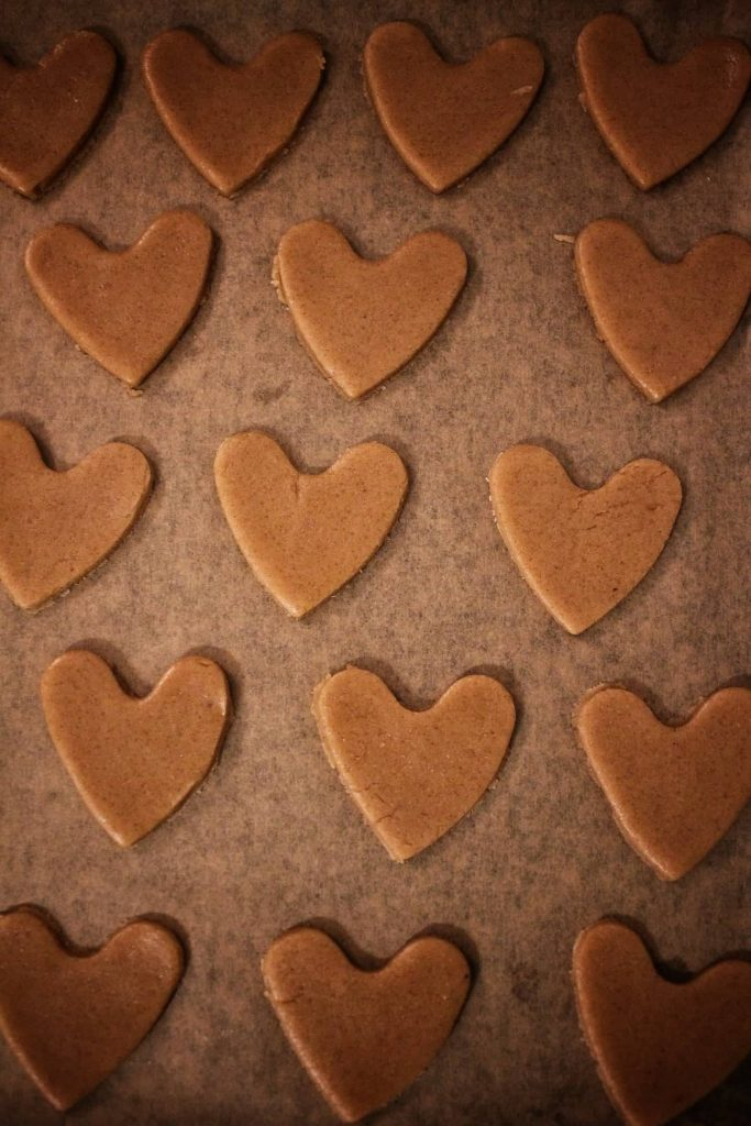 Heart-shaped Honey Cookies
