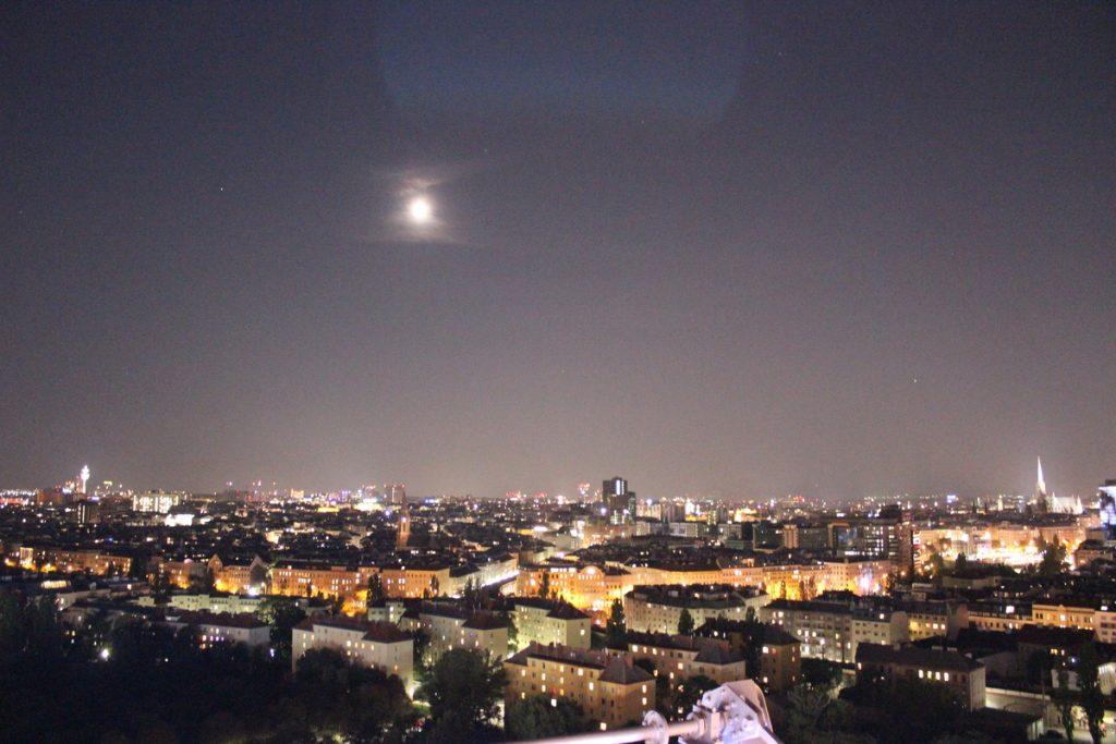 Нона панорама на Виена от Виенското колело в Пратера