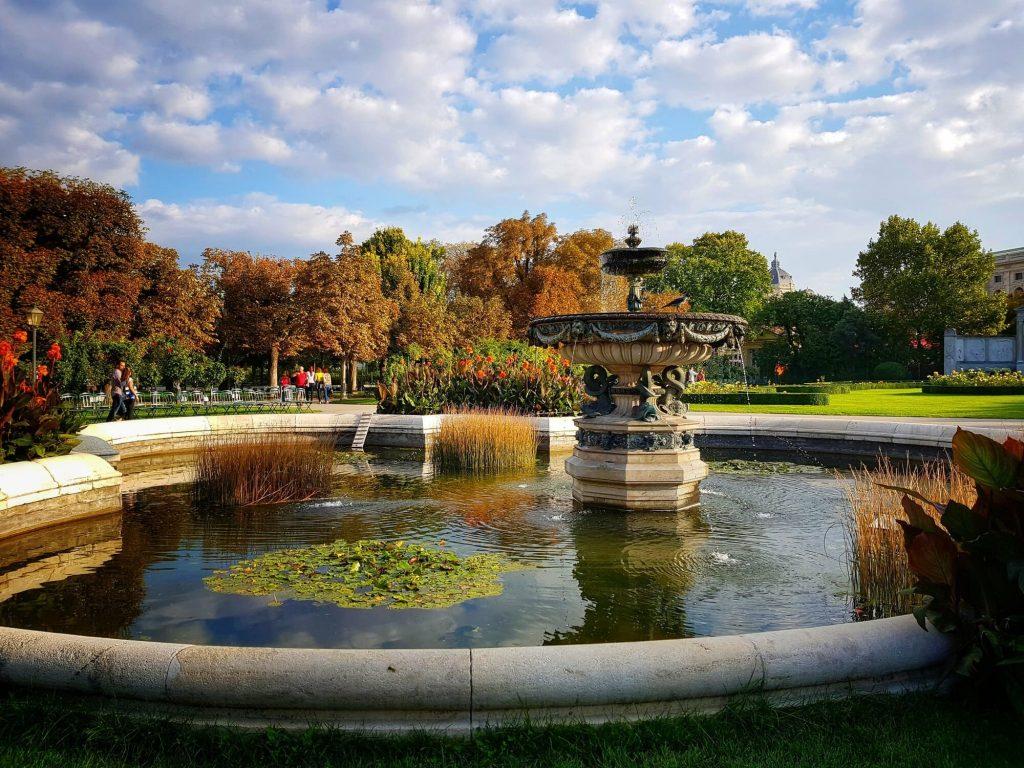 Фонтан в Паркът на народите, Виена
