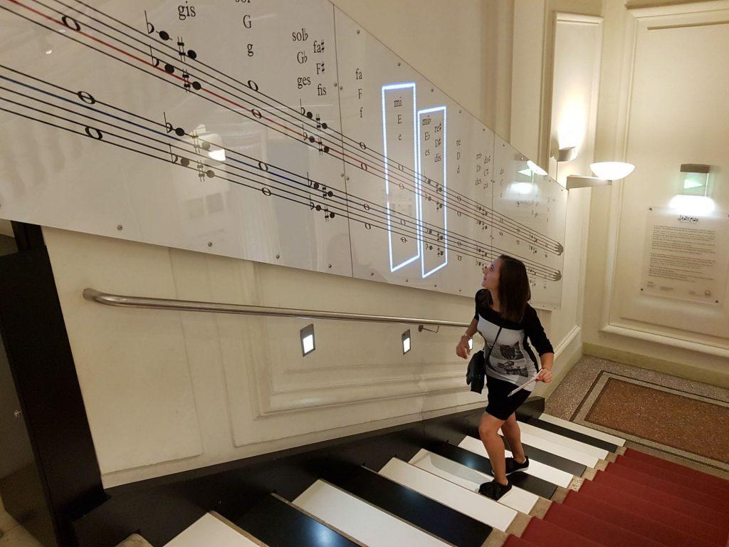 Стъпала-пиано в Къща на музиката музей, Виена