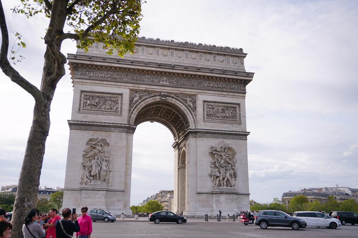 """Триумфалната Арка в центъра на площад """"Шарл дьо Гол"""""""