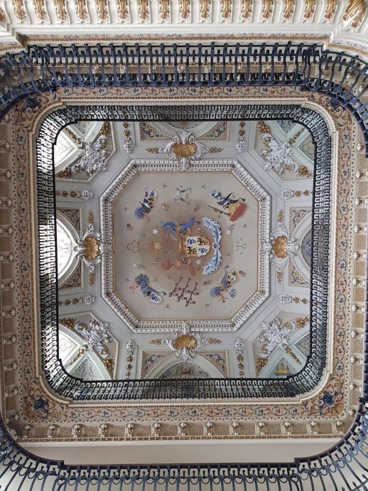 таван и горни етажи на вила Олмо, Комо, Италия